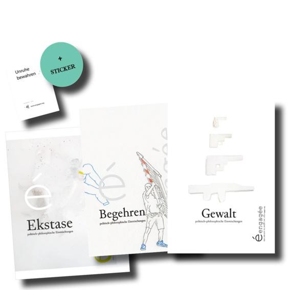 """Einsteiger*innen-Paket + Sticker """"Unruhe bewahren"""""""