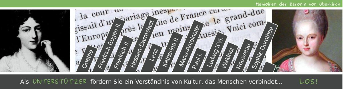 Memoiren der Baronin von Oberkirch - erste gemeinfreie Übersetzung