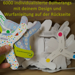 6000 Boomerangs - individuell gestaltet!
