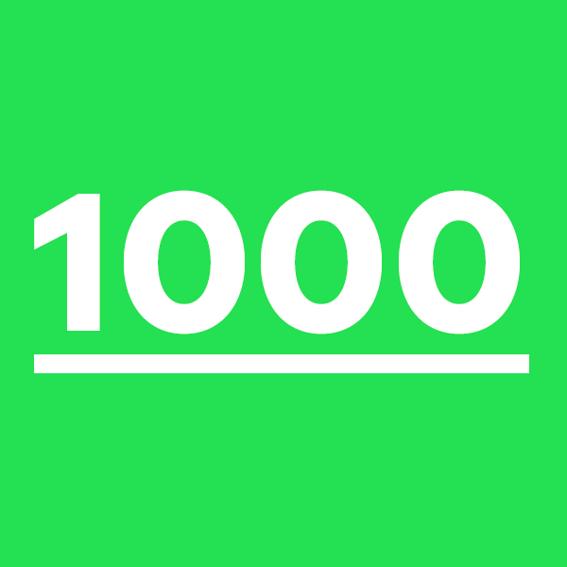 1000 Sticker! Du bist super!