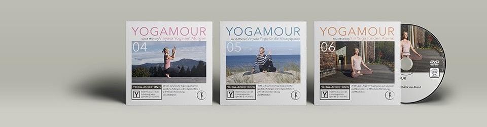 3 neue Yoga-DVDs von YOGAMOUR
