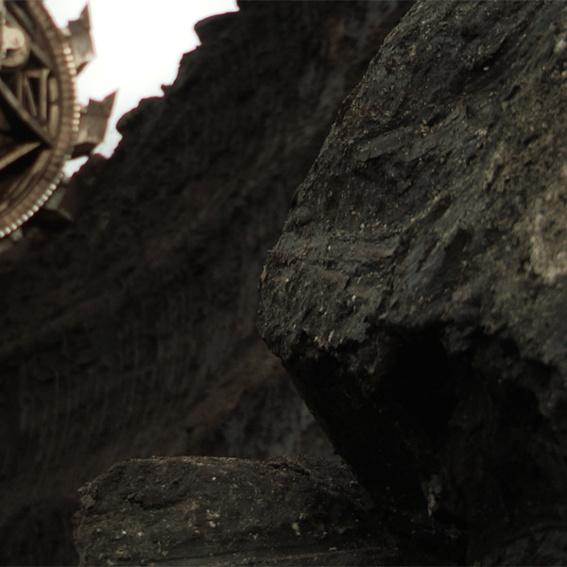 Ein Stück Rohkohle direkt aus dem Tagebau