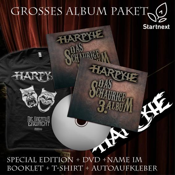 Großes Album Paket (Special Edition + T-Shirt + Autoaufkleber)