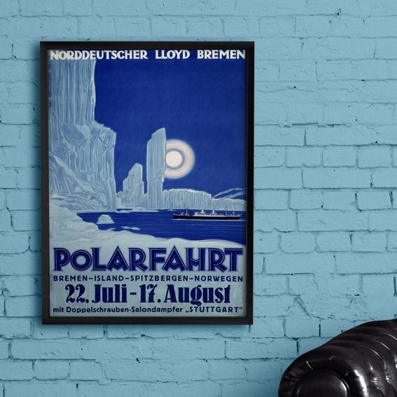 "Kunstdruck ""Norddeutscher Lloyd"" POLARFAHRT"