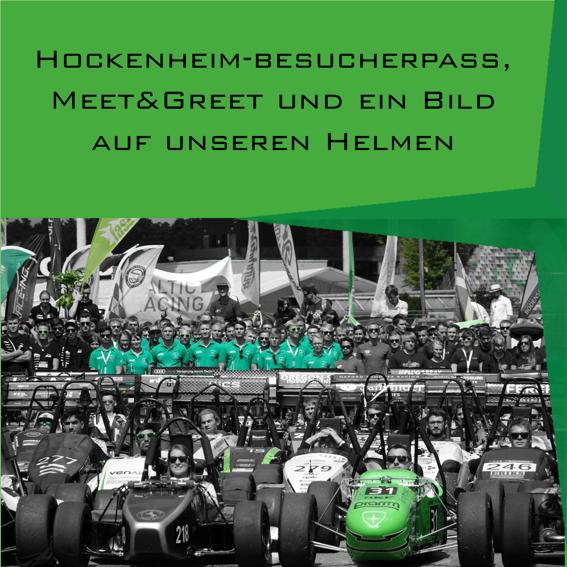Hockenheim-Besucherpass + Meet&Greet + Bild auf Helm