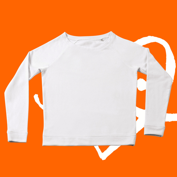 1x Sweatshirt tailliert weiß