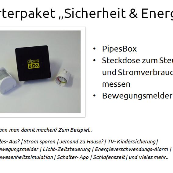 """PipesBox + Starterpaket """"Sicherheit & Energie"""""""