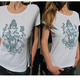 "Early Bird Angebot ""Ganesha"" Frauen T-Shirt weiß"
