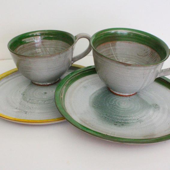 Teekanne mit 2 Gedecken (Teller, Tasse, Untertasse) nach Wunsch