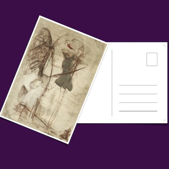 EARLY BIRD: Postkarte mit Originalzeichnung