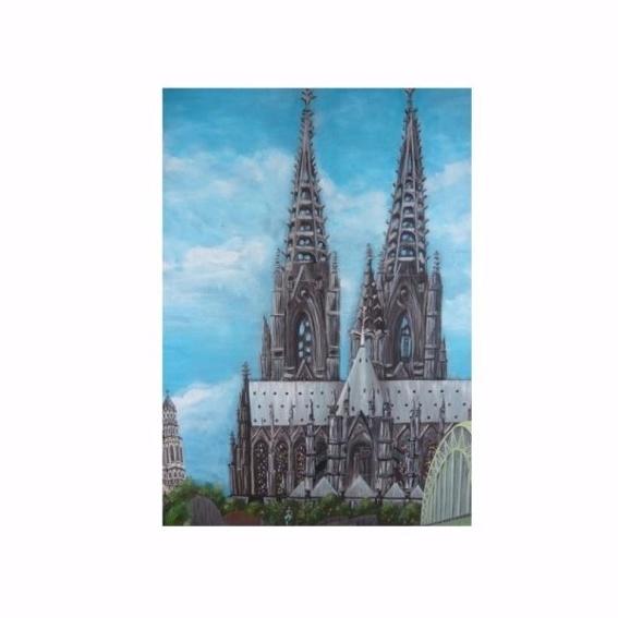 Fotoposter A4 Kölner Dom