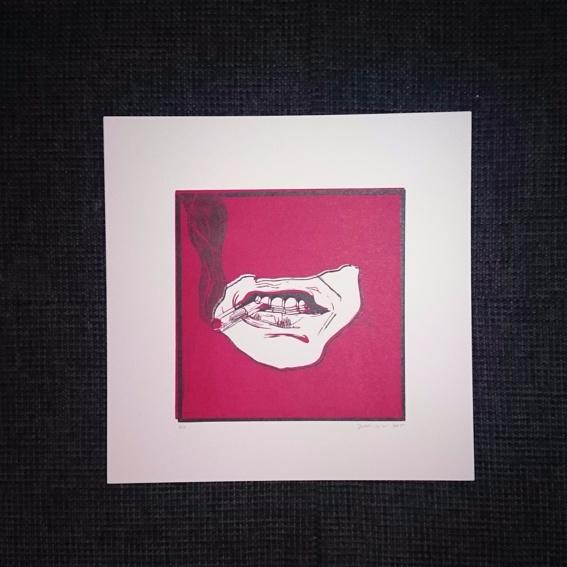 Das Magazin + Original Linoleum-Druck von Judith Lenz (zweifarbig)