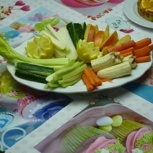 Obstplatte oder Gemüseplatte