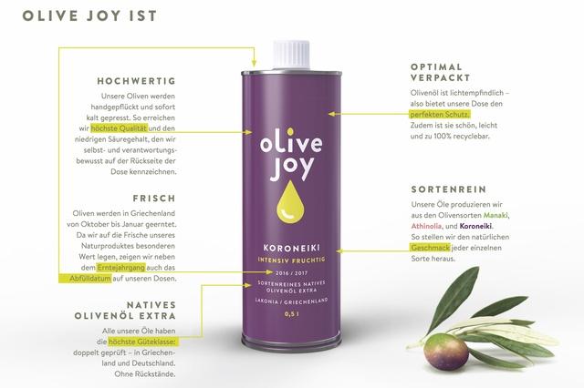 Unterstützung bei Einkauf sortenreiner Olivenöle
