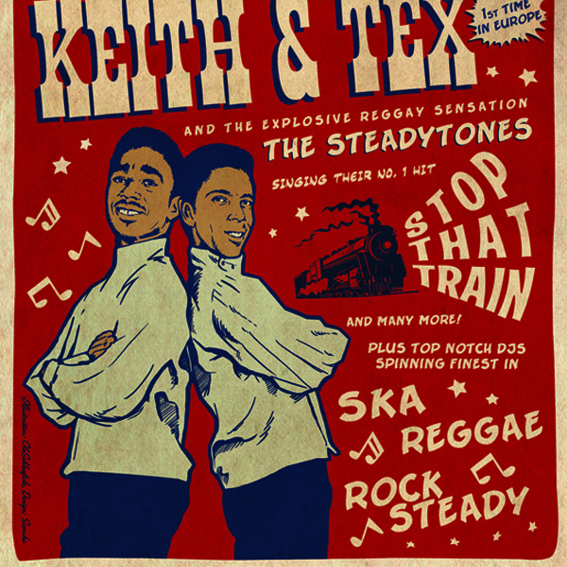 Keith&Tex - signed concert poster
