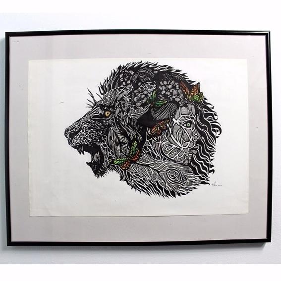 Lionage Photo-Print Handsigniert