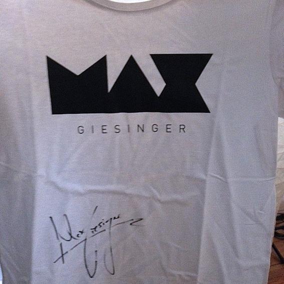 "MAX GIESINGER shirt signiert - Dame ""L"""