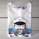 "Captain Clean Coffee T-Shirt und Clean Coffee Project ""Captain"" Postkarte"