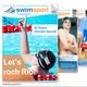 Eine Seite in der swimsportMagazine Olympia-Ausgabe