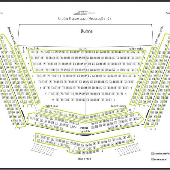 3-Personen-Platzgarantie für das geplante Konzert