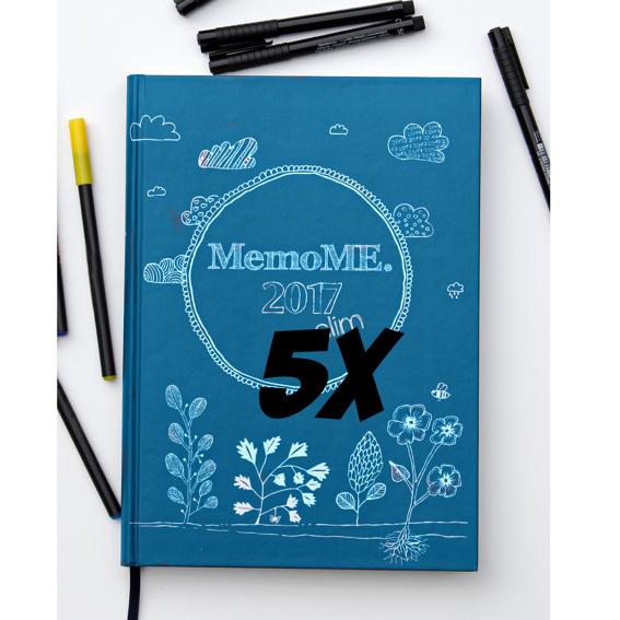 5x MemoME. Planer A5 slim