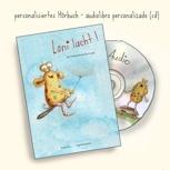 Ein Buch der Erstauflage mit personalisiertem Hörbuch (CD) plus 3'er-Postkarten-Set / Un libro de la primera edición con audiolibro personalizado (cd) más pack de 3 postales