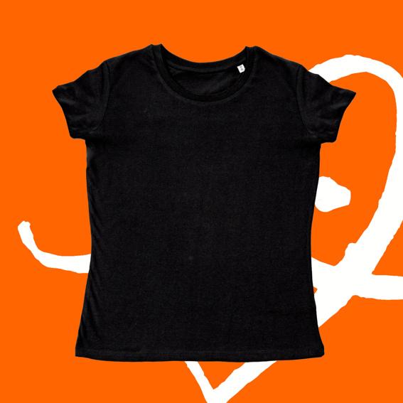 1x T-Shirt tailliert schwarz