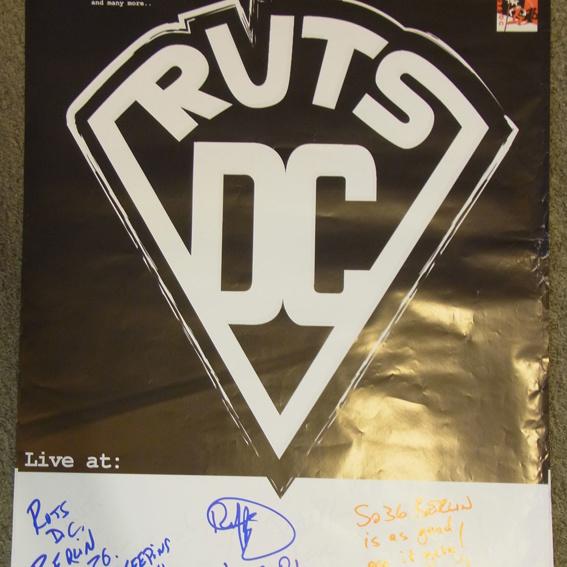 Ruts DC Poster - signiert