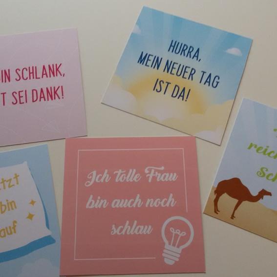 Kartenset Geh-Affirmationen