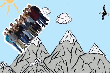 Herausforderung der Klasse 11: Alpenwanderung