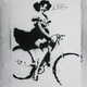 """Girl On Bike"" / political stencils from Athens"