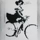 """""""Girl On Bike"""" / Politische Stencils aus Athen"""