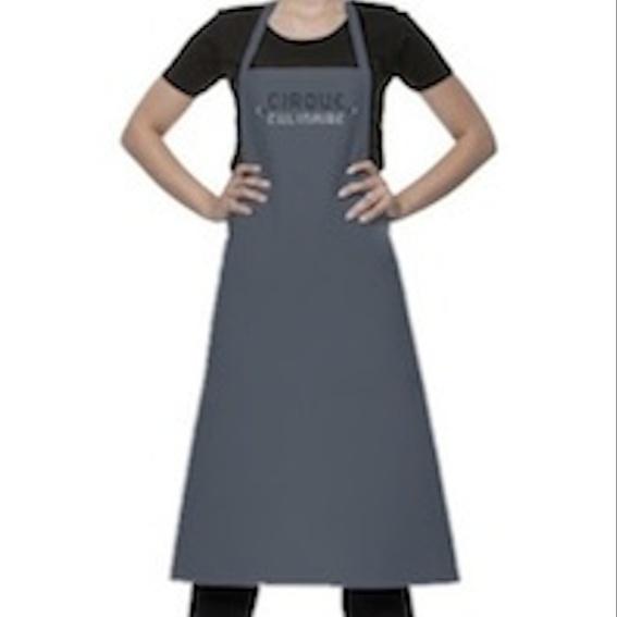 Hochwertige Kochschürze mit Cirque Culinaire Logo