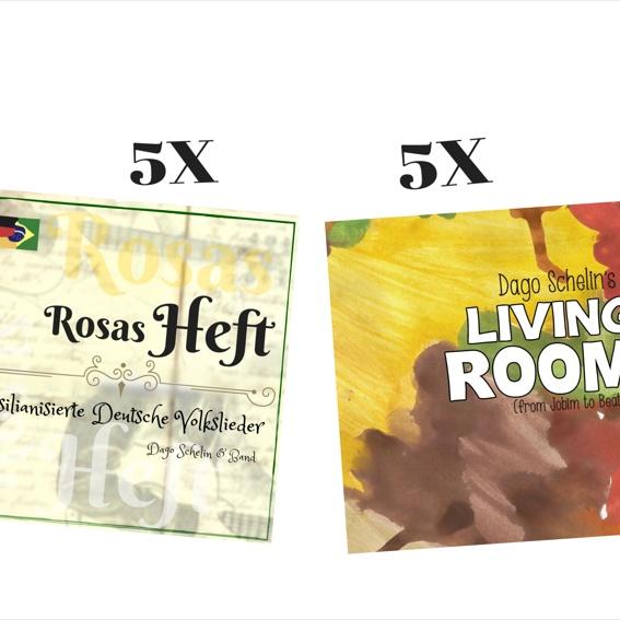 5 Rosas Heft CDs + 5 Living Room CDs! Angebot!