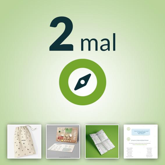 2 x Jahres-Erzeugermitgliedschaft, Baumwollbeutel, Rezeptkarten, Saisonkalender & Virtuelle Spendentafel