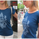 """Ganesha"" T-Shirt indigo blau"