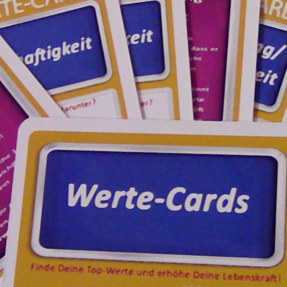 6 Sets Werte-Cards