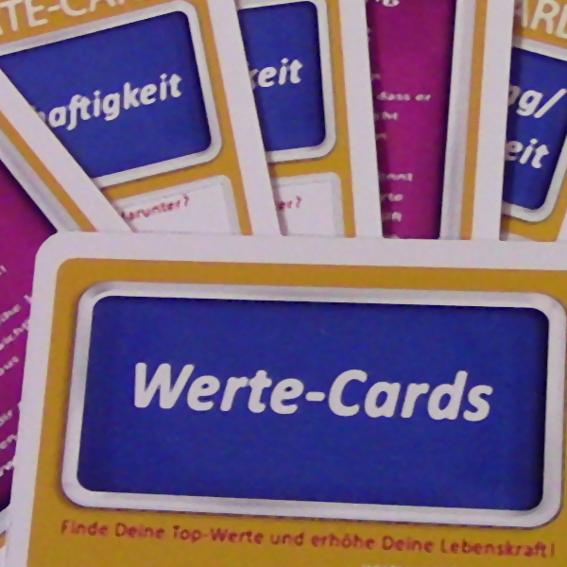 6 Sets Werte-Cards