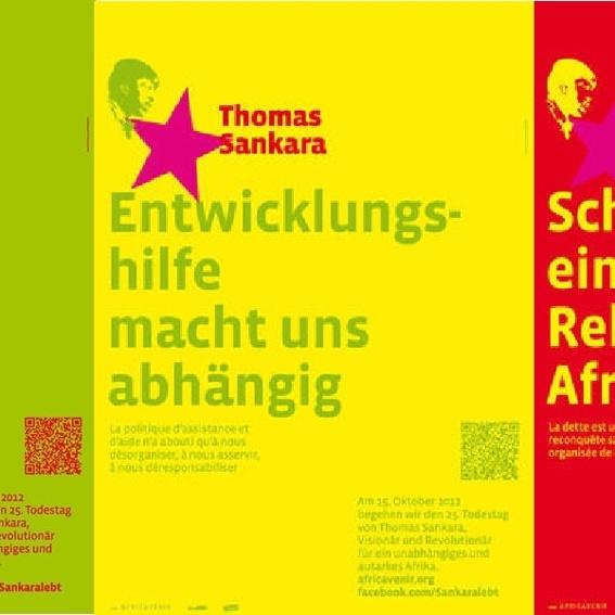 """Buch und ein Poster """"Thomas Sankara"""""""