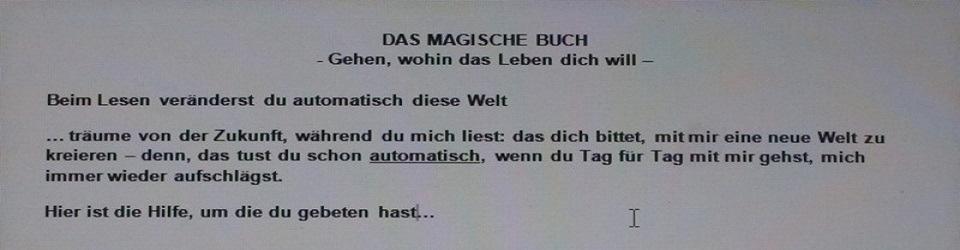 """""""DasMagischeBuch - Teil 1"""""""