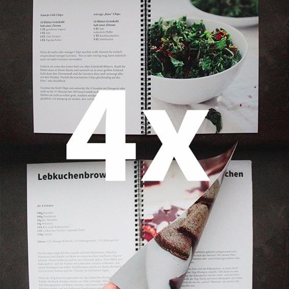4 Kochbücher - Freunde & Familie Paket