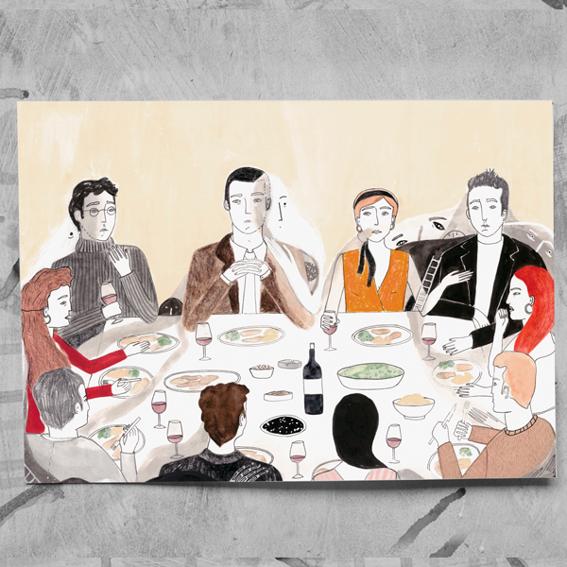 """DIN-A-3 ArtPrint """"Hidden Dinner Society"""" - Julia Navarro"""