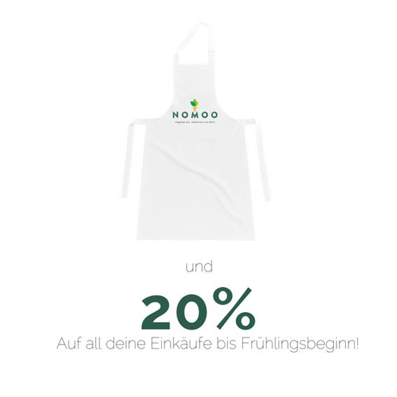 NOMOO-Kochschürze +  20%Wintergutschein* für unseren Onlineshop