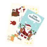 Post vom Weihnachtsmann mit Wachssiegel und Urkunde
