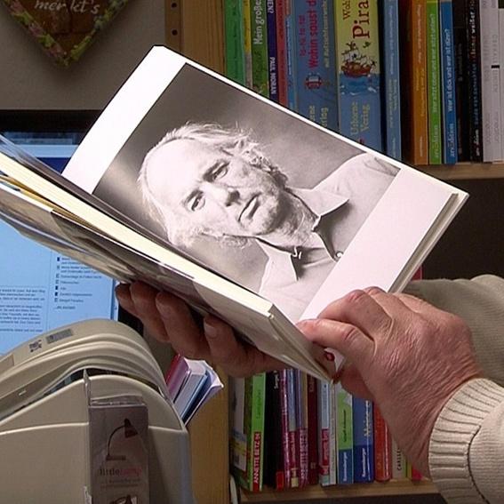 Postkarte mit Bernhard-Zitat