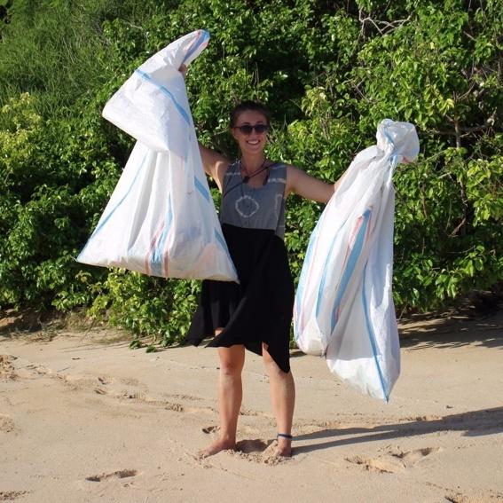 Beach-Clean-Up auf Bali