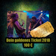 The golden VIP ticket for every GODSLAVE show 2017 & 2018