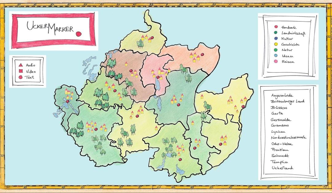 Kulturelle Landpartie Karte.Uckermarker Multimediale Landkarte Einer Unterschatzten Region