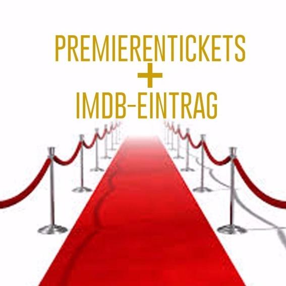 Premierentickets mit Associate Producer Credits und IMDB Eintrag