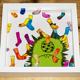 "3D-Wandbild ""Fello im Sockenregen 2"" 25 cm x 25 cm"